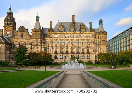 Sheffield Town Hall is a building in the City of Sheffield, England.  #738232702