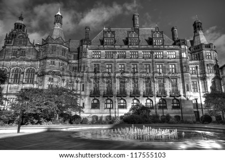 Sheffield Town Hall, South Yorkshire, UK