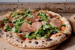 Sheffield  UK – 02 Oct 2017: delicious artisan wood-fired handmade pizza at Porter Pizza, Sharrow Vale Road