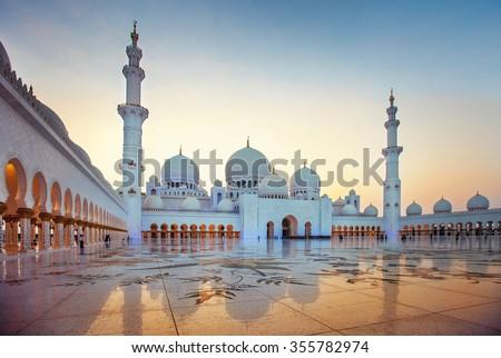 Stock Photo Sheikh Zayed Grand Mosque, Abu Dhabi