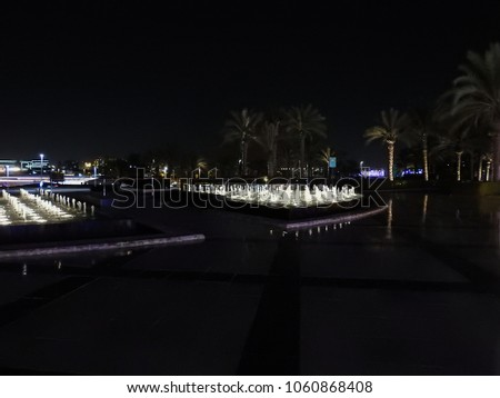 Sheikh Zayed Grand Mosque . Night view. Abu Dhabi. Largest mosque in the UAE