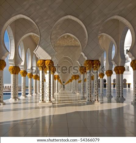 Sheikh Zayed mosque at Abu-Dhabi, UAE