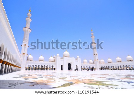 Sheikh Zayed mosque or grand mosque in Abu Dhabi