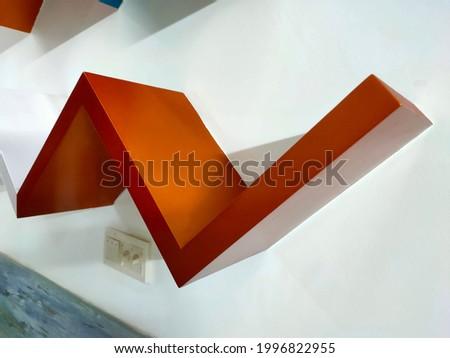 Shelf art paragon hexagone shelf Zdjęcia stock ©