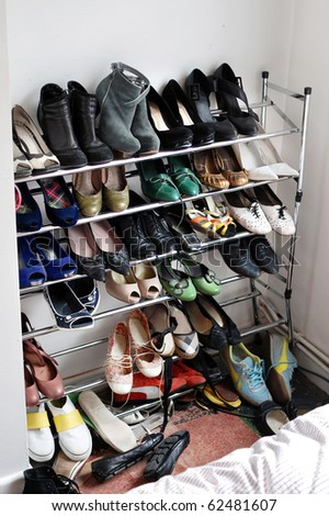 shelf of shoes