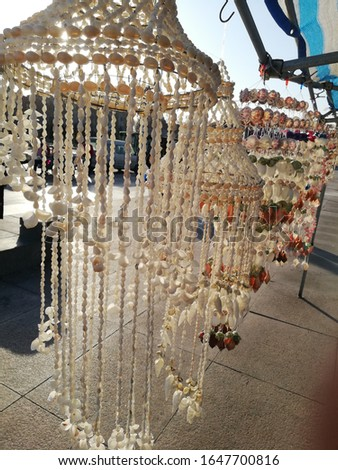 shell lamps ,shell decorations, shell decor