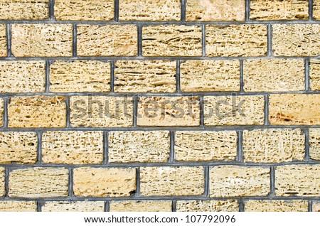 Shell limestone wall texture background. - stock photo