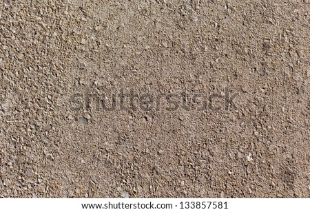 Shelled paved path texture