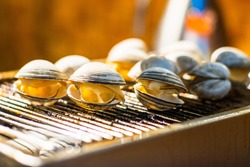 shellfish on the barbecue grill