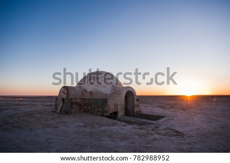 shelter in the desert