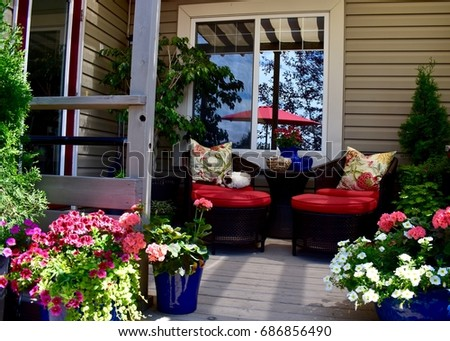 Sheltered Outdoor Deck Seating #686856490