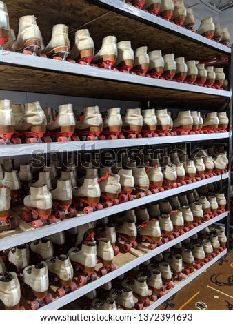 Shelves of Roller Skates #1372394693
