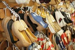 shelves of shoes. branding shoes.