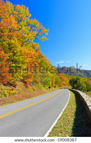 Shenandoah National park at autumn