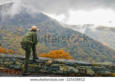 Shenandoah National Park in Autumn foliage, Virginia USA Stock photo ©
