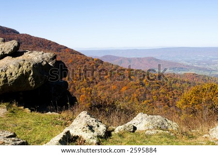 Shenandoah Vally photographed from the Shenandoah National Park, Virginia.