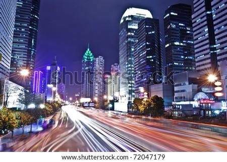 Shenzhen, China at night