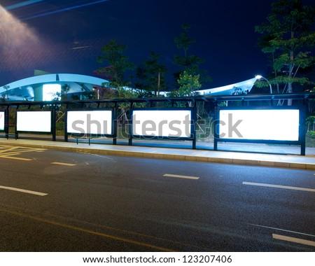 Shenzhen, China, roads and bus station