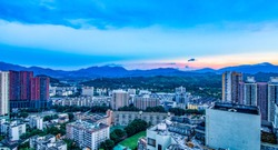 Shenzhen Huang Beiling skyline