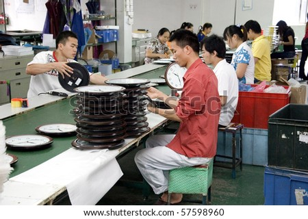SHENZHEN - MAY 7: Shenzhen clock factory, almost all World's clock are made in Shenzhen, factory tour on MAY 7, 2010 in Shenzhen.