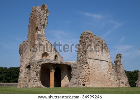 Sherborne Old Castle, Dorset,  UK, built in the 12th century by Bishop Roger of Salisbury and laid waste in 1645 during the English Civil War