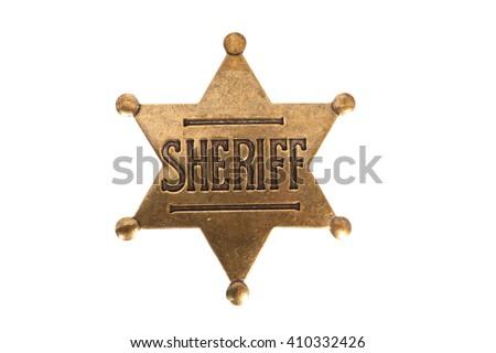 Sheriff Badge Stock fotó ©