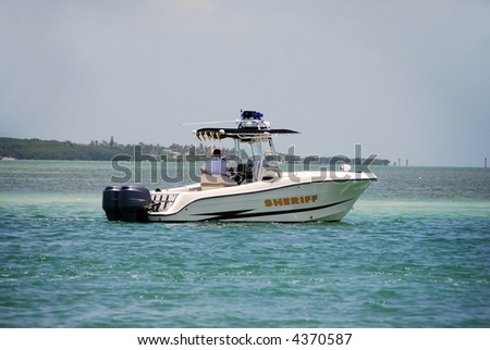 Sheriff on patrol in Florida waterway