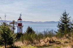 Sheringham Point Lighthouse on Vancouver Island, Canada