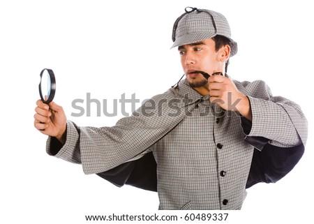 Sherlock Holmes Pipe. stock photo : sherlock holmes