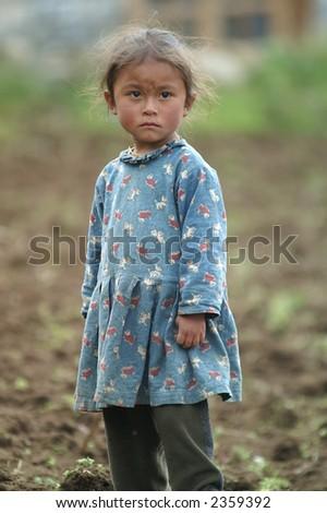 Sherpa Girl on a Potato Farm