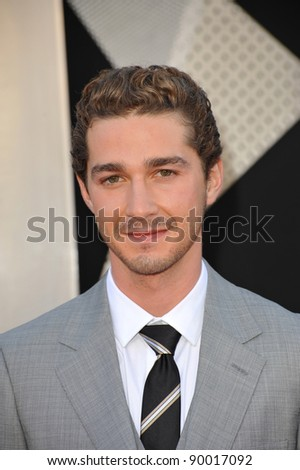 """Shia LaBeouf at the Los Angeles premiere of his new movie """"Transformers: Revenge of the Fallen"""" at the Mann Village Theatre, Westwood. June 22, 2009  Los Angeles, CA Picture: Paul Smith / Featureflash"""
