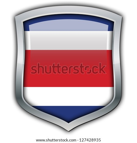Shield with flag inside - Costa Rica