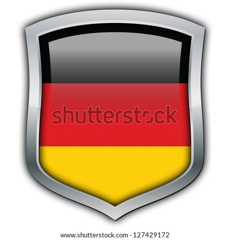 Shield with flag inside - Germany