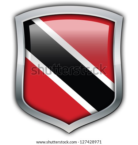 Shield with flag inside - Trinidad and Tobago