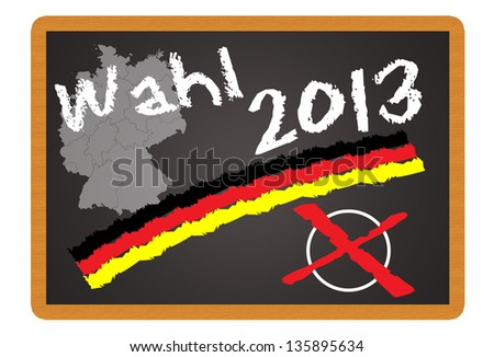 Shield with the german word Election 2013 / Election 2013