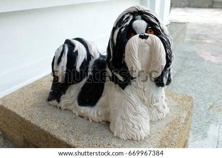 Shih Tzu Dog Statue. #669967384