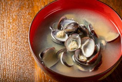 Shijimi clam (freshwater clam) miso soup
