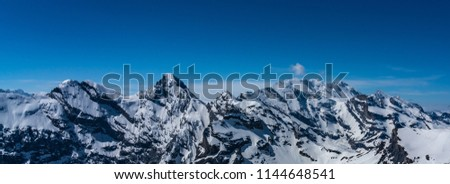 Shilthorn, alps panorama view #1144648541