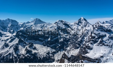 Shilthorn, alps panorama view #1144648547