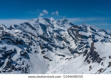 Shilthorn, alps panorama view #1144648550