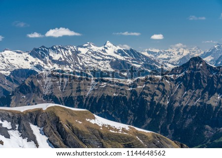 Shilthorn, alps panorama view #1144648562