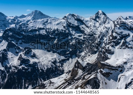 Shilthorn, alps panorama view #1144648565