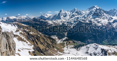 Shilthorn, alps panorama view #1144648568