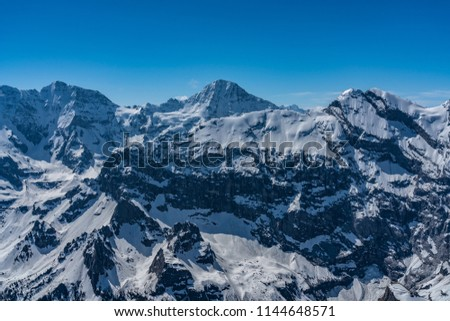 Shilthorn, alps panorama view #1144648571