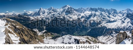 Shilthorn, alps panorama view #1144648574