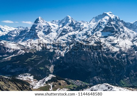 Shilthorn, alps panorama view #1144648580