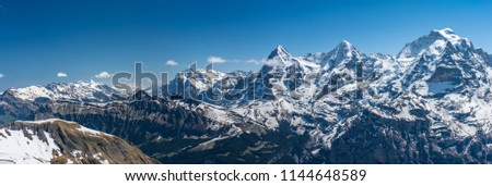 Shilthorn, alps panorama view #1144648589