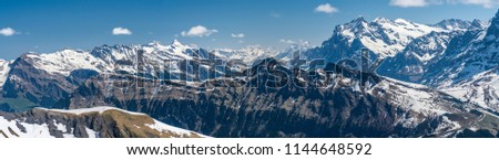 Shilthorn, alps panorama view #1144648592