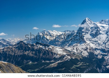 Shilthorn, alps panorama view #1144648595