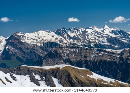 Shilthorn, alps panorama view #1144648598